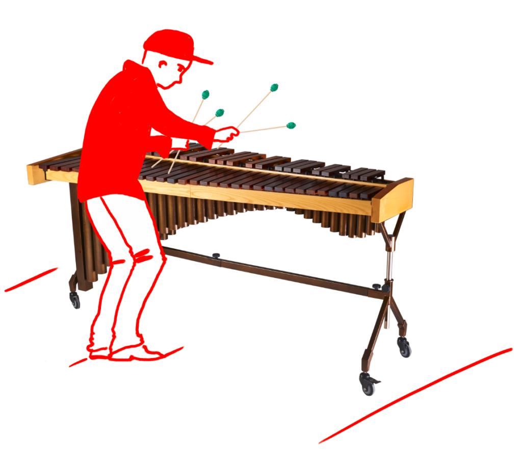 Marimba Spieler