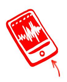 Handy mit Musikwiedergabe Bildschirm