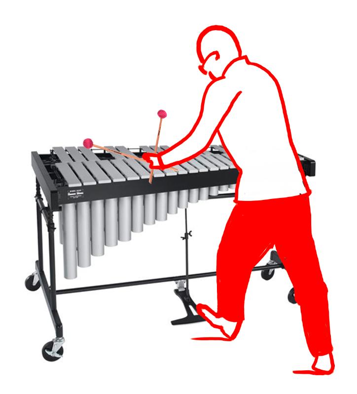 Vibraphonist Vibrafon Spieler